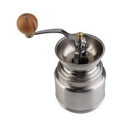 Coffee Beans Grinding NZ - High Quality Stainless steel Manual Handy Coffee Bean Pepper Seeds Grinder Mill Kitchen Grinding Tool