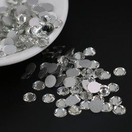 Crystal Flatback Rhinestone AAA Quality Shiny Non Hotfix Stone For DIY Nail Art, Phoe Case, Jewelry and Garmeent All Size (Crystal)