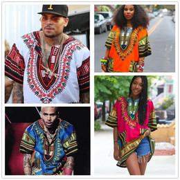 07a2d3d01f3 Dashiki Africana Vestidos Para Mujeres Hombres Ropa Hippie Camisa Caftan  Vintage Unisex Tribal Mexicano Top Bazin Riche Ropa étnica M055