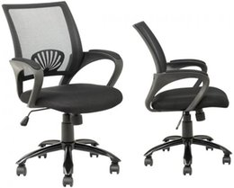 wood office chairs 2019 - Black Ergonomic Mesh Computer Office Desk Task Chair w Metal Base H12 Sets of 2