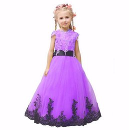 $enCountryForm.capitalKeyWord UK - New Brand Good Quality Colorful Organza Beautiful Flower Girl Dress With Bow Children's Pageant Dress Floor Length