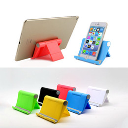 Wholesale Desktop Stand Folding Mount For Cell Phone Pad Tablets Foldable Phone Holder Lazy Stent Bracket Universal