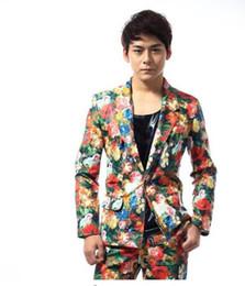 $enCountryForm.capitalKeyWord UK - High quality flower blazer men latest coat pant designs suit men costume singer dance stage trouser suits for men's fashion