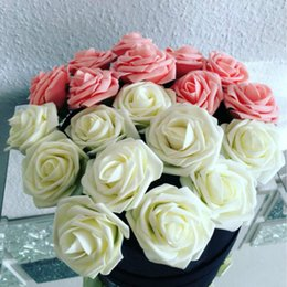 foam rose heads white NZ - 11 Colors 10 Heads 8CM Artificial Rose Flowers Wedding Bride Bouquet PE Foam DIY Home Decor Rose Flowers Free Shipping