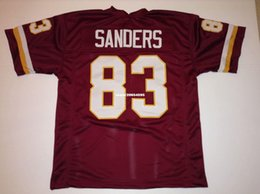 bc7c10d75 Cheap Retro custom Sewn Stitched #83 Ricky Sanders Burgundy Jersey  Throwback Men's football jerseys from