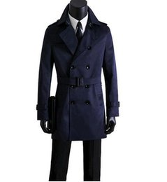 trench coat fashion UK - Men's clothing spring and autumn plus size men casual trench coat double breasted trench coats mens slim beige casaco masculino