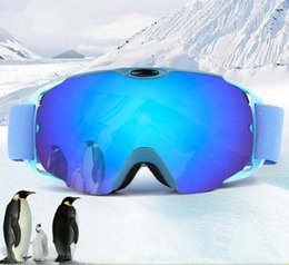 mirrored ski goggles Canada - Sunglass Men Women Ski Goggles Anti Fog Glasses Motorcycle Glasses Outdoor Sports Windproof Glasses Eyewear for Ski Snowboard Skate with Box