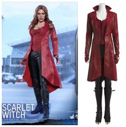 captain america woman costume 2019 - Captain America 3 Scarlet Witch cosplay carneval costumes cheap captain america woman costume