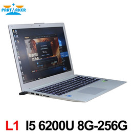 China Intel Laptop Canada - Partaker L1 Laptop Computer with Intel 6th Gen I5 6200U CPU WIN10 GT940M 2G Notebook Computer