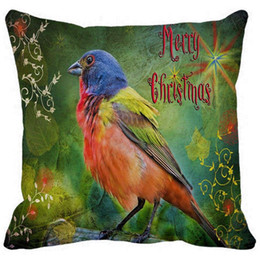 """$enCountryForm.capitalKeyWord Australia - Throw Pillow Case, Merry Christmas Colorful Bird Painting Square Sofa and Car Cushions Cover, """"16inch 18inch 20inch"""", Pa"""