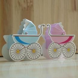 ragazza ragazzo mini carrozzina passeggino matrimonio scatola di nozze baby shower festa di compleanno scatola dolce bomboniera 50 pz