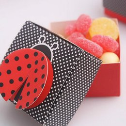 "$enCountryForm.capitalKeyWord Canada - 50pcs Wedding Candy Box Baby Shower Favor Box Party Decorations ""Cute as a Bug"" 3-D Wing Ladybug Favor Box Decoration Mariage"