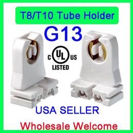 Vente en gros Douille de lampe T8 non shuntée, listée UL, douille en pierre tombale pour douilles Ruixin pour tubes fluorescents à LED (support de 20)