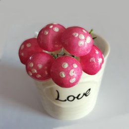 $enCountryForm.capitalKeyWord Canada - 2.5cm Artificial Mini Cute Foam Mushroom Pick w Wire Stem Wedding Crafts * FREE SHIPPING BY EMS*