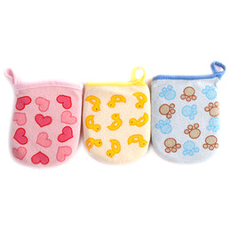 Sponge Cartoon Pas Cher-Vente en gros-1PC Baby Kid Infant Cartoon Soft Bathing Mitt Globe Mousse Foam Frot Douche Exfoliante Wash Toile Tissu MU674053