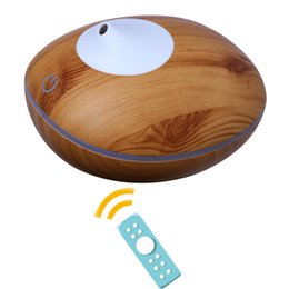 Remote Oil Canada - 200ml Capacity 7 Colors LED Ultrasonic Essential Oil Diffuser Cool Mist Wood Grain Aroma Humidifier Diffuser With Remote