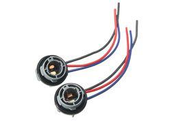 $enCountryForm.capitalKeyWord Australia - 2PCS 10cm 1157 2057 2357 BAY15D Car Lamp Socket Adapter Connector Harness Wiring For Car Auto Turn Signal Headlight Light Bulb