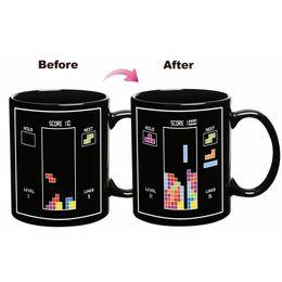 Discount tetris block - Tetris Color Change Cup Magic Ceramic Mug Cartoon Building Blocks Mugs Kids Birthday Present For Home High Quality 8yr