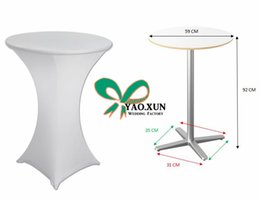 $enCountryForm.capitalKeyWord NZ - 10pcs White Color Cocktail Table Cover \ Spandex Lycra Table Cloth
