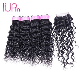 $enCountryForm.capitalKeyWord NZ - IUPin Hair Products Brazilian Remy Human Hair 4 Bundles with Closure Mink Brazilian Loose Deep Virgin Hair Bundles Deals Water Wave On Sale