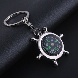 Wholesale Insect Pendants NZ - New fashion accessories compass Keychain metal pendant Keychain high quality wholesale