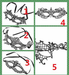 celebrity party decorations 2019 - 2017 New Fashion Sexy Lace Lovely Party Venetian Masquerade Decorations Half Face Lily Woman Lady Sexy Mardi Gras Masks