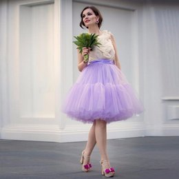 11c97a5895 High Quality Lavender Puffy Tulle Skirts For Women Pleat Tutu Skirt Knee Length  Zipper Style Custom Made Party Skirt