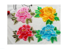 $enCountryForm.capitalKeyWord Canada - 10PCS LOT Cute Colorful Applique Flowers Patch Embroidered Sew on Clothes Bags Handmade DIY Craft Ornament Fabric Sticker