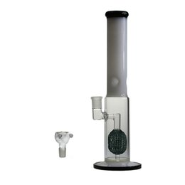 China 15 Inch Thick Glass Bongs Smoking Water Pipe Pipeapple Percs Color Black and Jade Hookahs 18.8mm supplier bongs percs suppliers