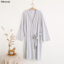 84c6572742 Waffle Robes NZ - Wholesale- Women s Cotton Waffle Bathrobes Two colors Sleepwear  summer bath robe