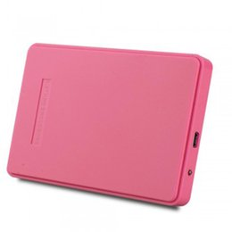 "China Wholesale- new Pink External Hard Drive Disk Enclosure Usb 2.0 Sata 2.5"" Inch Portable Case Hdd Support 2TB Hard Drive cheap 2tb sata hard drives suppliers"