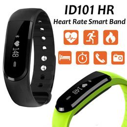 $enCountryForm.capitalKeyWord Canada - ID101HR Bluetooth 4.0 Smart Band Wrist Bracelet fitness tracker heart rate monitor smartband wristband for iPhone Xiaomi samsung huawe phone