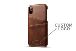 Designs For Iphone Cases Canada - Dirt-resistant Leathe Case with Card Pocket for iPhone X 8 Plus 6s Custom Logo Design Protective Leather Case