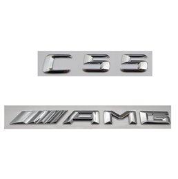 $enCountryForm.capitalKeyWord Canada - Chrome Number Letters Trunk Emblem Badge Sticker for Mercedes Benz C55 AMG 2017