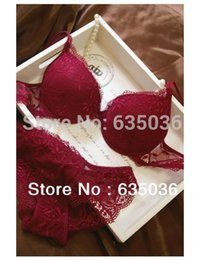 38 b cup UK - New Hot Sexy Deep V Lace Bra Sets With Briefs Knickers 32-38 A B C Cup 6 colors