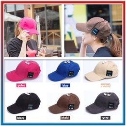 $enCountryForm.capitalKeyWord Australia - Fashion Wireless Bluetooth Headphone Sports Baseball Cap Canvas Sun Hat Music Headset with Mic Speaker for Smart Phone DHL free