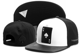 poker sports NZ - Cayler & Sons Poker Spade A White Black Men Woman Ball Snapback Caps Hip Hop Sport Baseball Flat Cool Outdoor Golf Summer TYMY 454