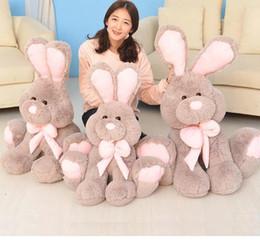 valentines stuffed animals 2018 - Plush Tops Kids Rabbit Doll Big Stuffed Rabbit Plush Teddy Soft Gift for Valentine Day Birthday
