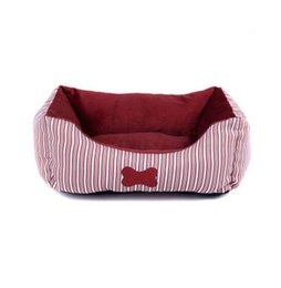 CUTE S L 48cm 60cm Red Pet Dog Bed Kennel Sofa Puppy Cat Soft Warm Cozy  Nest Bed House Plush Pad Cotton Mat