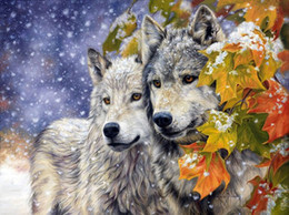 2018 wolf tools A1018 Diamond Embroidery Home Decor Cross Stitch Wolf 100% Resin Tool dril Painting Cross Stitch Mosaic Needlework wolf tools on sale
