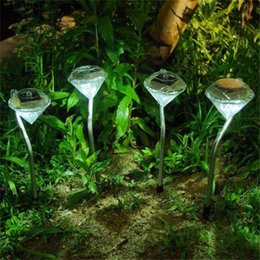 $enCountryForm.capitalKeyWord Canada - 32pcs lot Lawn Lights Solar powered lawn light Diamond Shaped outdoor landscape garden solar lamp Pathway Garden Path Stake Lanterns Outdoor