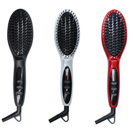 $enCountryForm.capitalKeyWord NZ - LCD Comb brush Hair straightener hair iron Professional Fast Ceramic Electric Hair Straightening brush Styling Tools flat iron