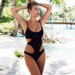 $enCountryForm.capitalKeyWord Canada - DEED V One Piece Swimsuit Sexy Push up Moniquini Women Vintage Black Bandage Summer Beach Swimwear Female Dress Bathing Suit