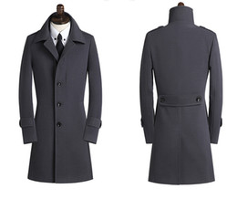 New treNch online shopping - 2018 New Spring Autumn Winter Men s Trench Coats Breasted Overcoat Size S XL