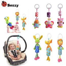 hanging baby toy wind chime Canada - Sozzy Animal Style Baby Ratlle Baby Mobile Bed Hanging Wind Chimes Ringing Baby Hand Bell Toy Plush Dolls Toy