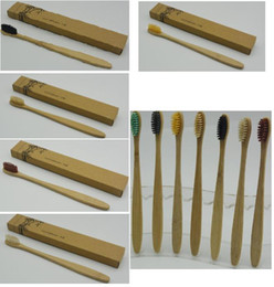 New Fashion Bamboo Toothbrush Crown Environmentally Toothbrush Bamboo Toothbrush Soft Nylon Capitellum Bamboo Toothbrushes for Hotel on Sale