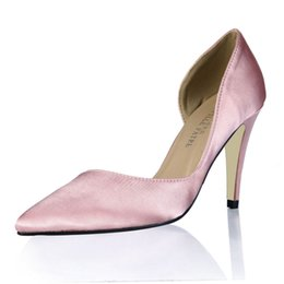 $enCountryForm.capitalKeyWord NZ - Sapato Feminino Women Pumps Shoes 2017 Pink Stain Ladies Party Shoes Pointed Toe Real Image Zapatillas Mujer Cheap Modest Party Shoes