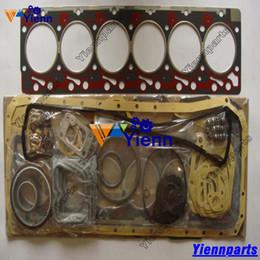 Engine Gaskets Australia - For Komatsu 6D102 S6D102E overhaul gasket kit for Komatsu PC200-6 PC220LC-6 PC228UU-1 Diesel Engine rebuild parts