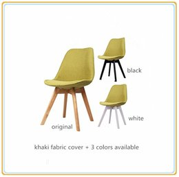 Restaurant Chairs Dining Room Chairs Home Chairs Easy Chairs With Khaki  Fabric Cover And Original Wooden Legs