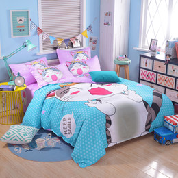 Kids Bedroom Linen discount kids bedding set cat | 2017 kids bedding set cat on sale